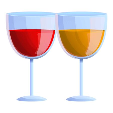 Glass french wine icon. Cartoon of glass french wine icon for web design isolated on white background Stok Fotoğraf