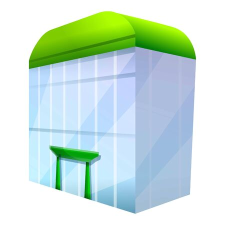 Shopping mall icon. Cartoon of shopping mall icon for web design isolated on white background