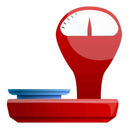 Retro red scales icon. Cartoon of retro red scales icon for web design isolated on white background Stok Fotoğraf