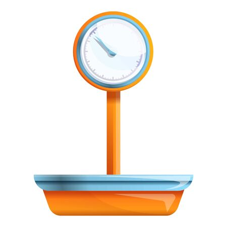 Market scales icon. Cartoon of market scales icon for web design isolated on white background