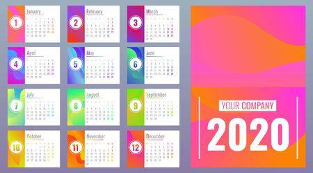 Calendar banner set. Cartoon illustration of calendar banner set for web design
