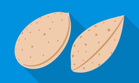 Almond nut icon. Flat illustration of almond nut icon for web design Stok Fotoğraf