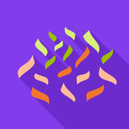 Colorful confetti icon. Flat illustration of colorful confetti vector icon for web design