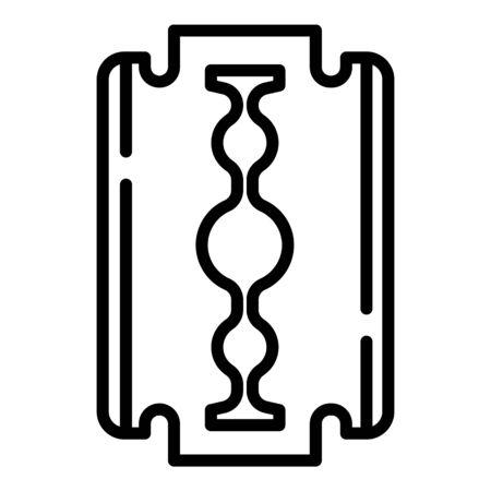 Metal blade icon. Outline metal blade icon for web design isolated on white background Stok Fotoğraf