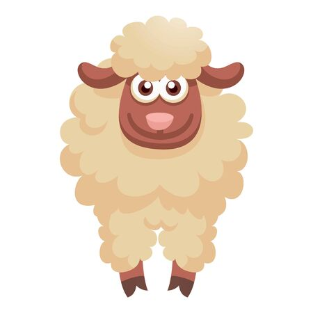 Smiling sheep icon. Cartoon of smiling sheep icon for web design isolated on white background