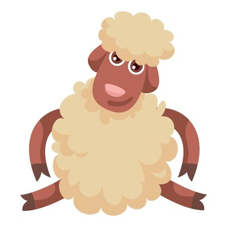 Funny sheep icon. Cartoon of funny sheep icon for web design isolated on white background