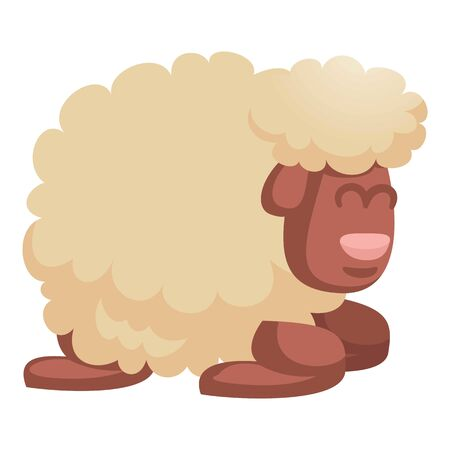 Sleeping sheep icon. Cartoon of sleeping sheep icon for web design isolated on white background