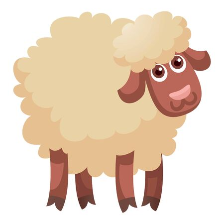 Cute funny sheep icon. Cartoon of cute funny sheep icon for web design isolated on white background