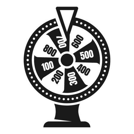 Lucky wheel icon. Simple illustration of lucky wheel icon for web design isolated on white background