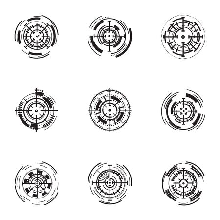 Weapon target icon set. Simple set of 9 weapon target icons for web design isolated on white background Stok Fotoğraf
