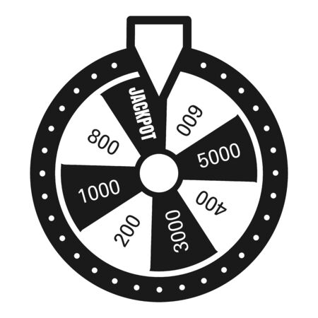 Fortune wheel icon. Simple illustration of fortune wheel icon for web design isolated on white background