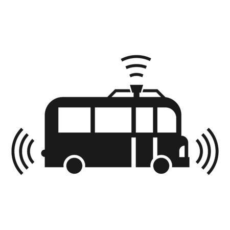 Autopilot bus icon. Simple illustration of autopilot bus icon for web design isolated on white background