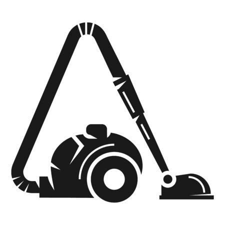 Vacuum cleaner icon. Simple illustration of vacuum cleaner icon for web design isolated on white background 版權商用圖片