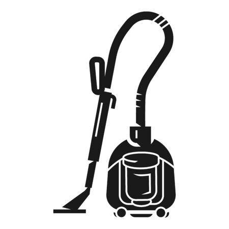 House vacuum cleaner icon. Simple illustration of house vacuum cleaner icon for web design isolated on white background