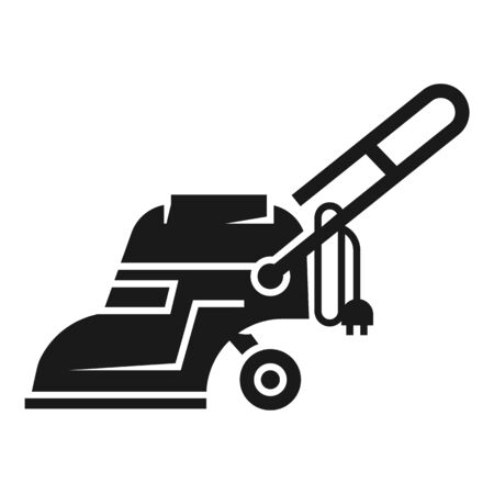 Electric vacuum cleaner icon. Simple illustration of electric vacuum cleaner icon for web design isolated on white background