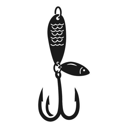 Lure fishing hook icon. Simple illustration of lure fishing hook icon for web design isolated on white background