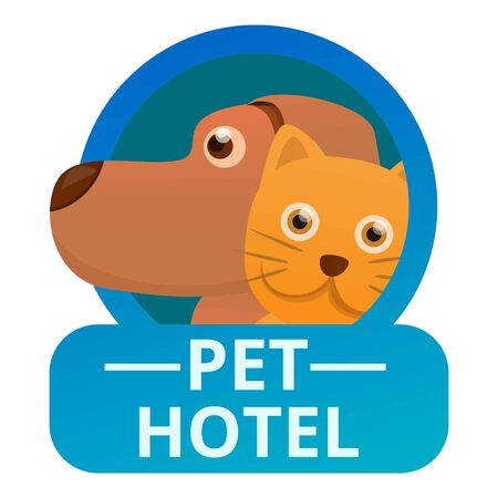 Modern pet hotel icon. Cartoon of modern pet hotel icon for web design isolated on white background