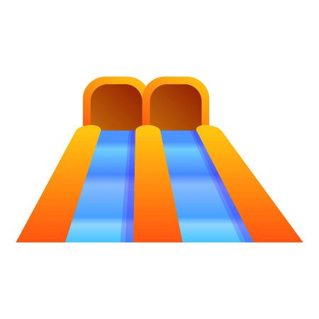 Water slide icon. Cartoon of water slide icon for web design isolated on white background