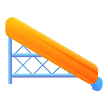 Plastic water slide icon. Cartoon of plastic water slide icon for web design isolated on white background