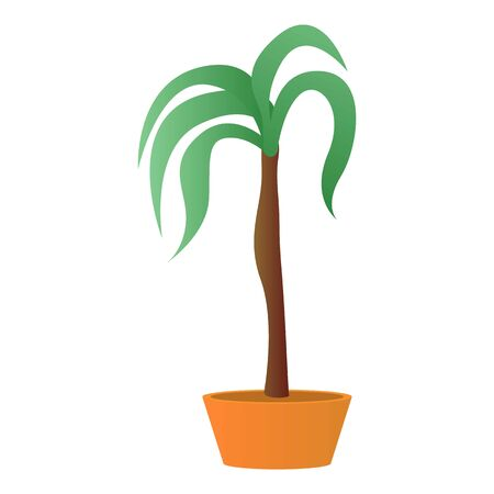 Palm houseplant icon. Cartoon of palm houseplant icon for web design isolated on white background Banco de Imagens