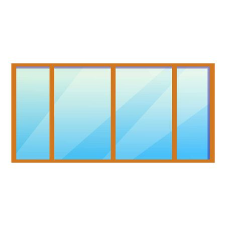 Big office window icon. Cartoon of big office window icon for web design isolated on white background