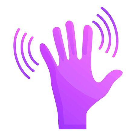 Hand shake icon. Cartoon of hand shake icon for web design isolated on white background