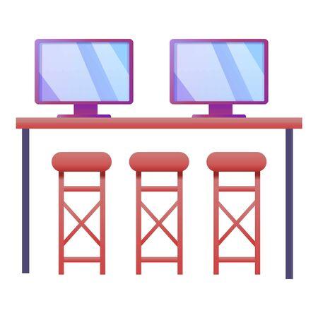 Modern it desktop icon. Cartoon of modern it desktop icon for web design isolated on white background Stock Photo