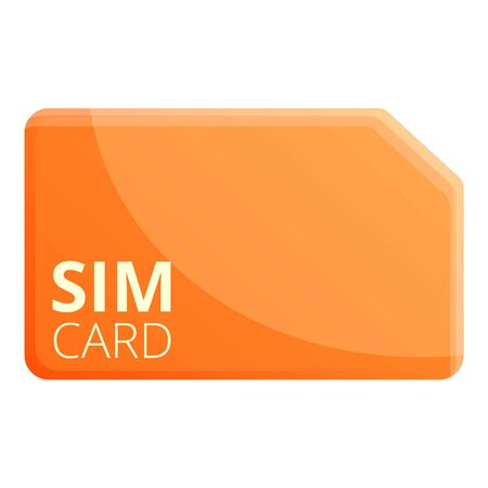 Gsm sim card icon. Cartoon of gsm sim card icon for web design isolated on white background