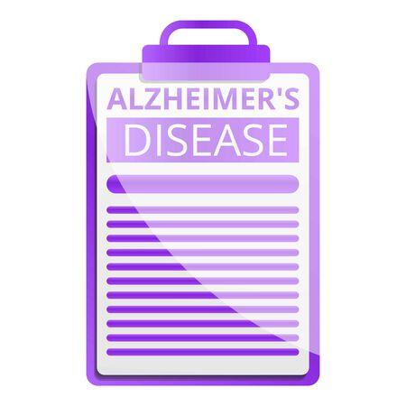 Alzheimer disease checkboard icon. Cartoon of alzheimer disease checkboard icon for web design isolated on white background