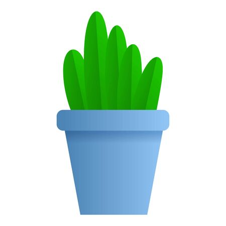 Office plant pot icon. Cartoon of office plant pot icon for web design isolated on white background