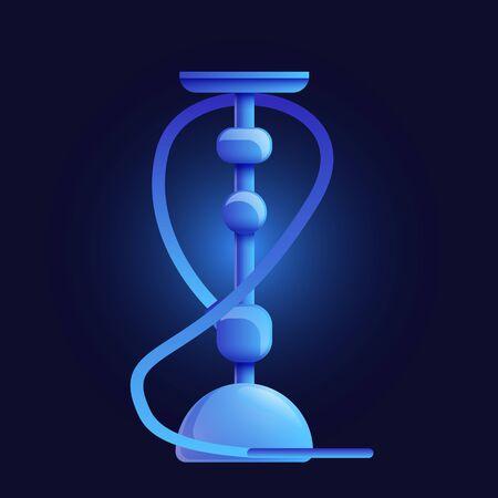 Blue hookah icon. Cartoon of blue hookah icon for web design isolated on white background Stock Photo