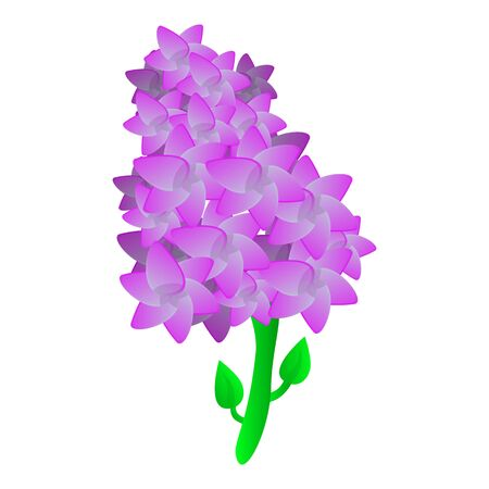 Lilac plant icon. Cartoon of lilac plant icon for web design isolated on white background Banco de Imagens