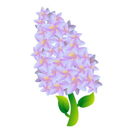 Garden lilac icon. Cartoon of garden lilac icon for web design isolated on white background Banco de Imagens