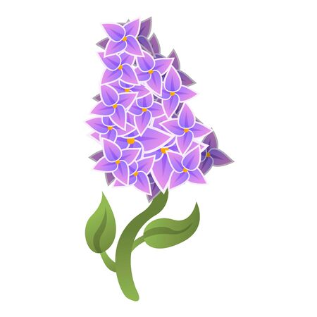 Season lilac icon. Cartoon of season lilac icon for web design isolated on white background