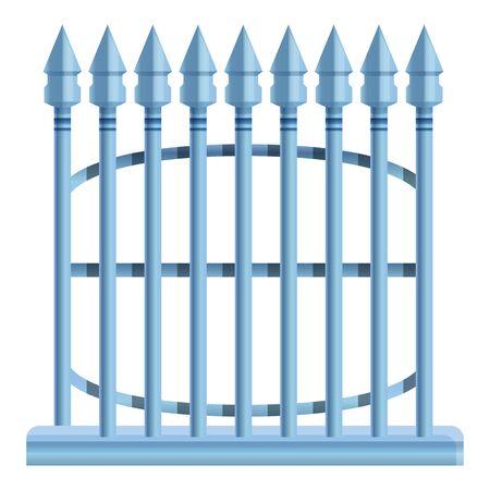 Metal arrow fence icon. Cartoon of metal arrow fence vector icon for web design isolated on white background Illusztráció