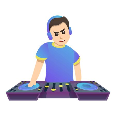 Music dj icon. Cartoon of music dj vector icon for web design isolated on white background Illustration