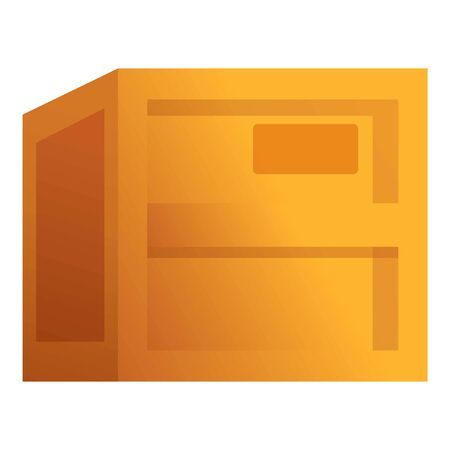 Empty parcel box icon. Cartoon of empty parcel box vector icon for web design isolated on white background
