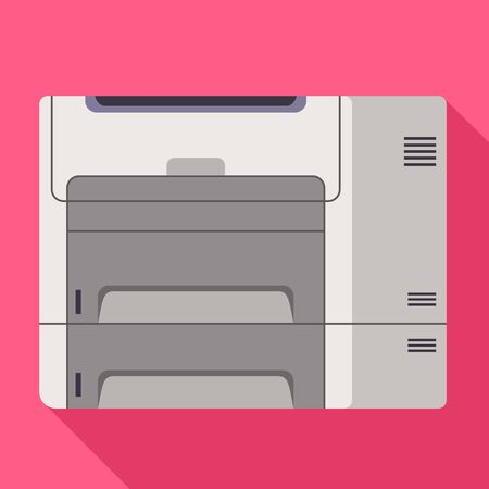 Office printer icon. Flat illustration of office printer icon for web design