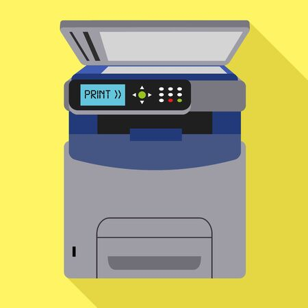 Office xerox printer icon. Flat illustration of office xerox printer icon for web design Stock Photo