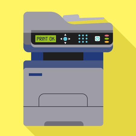 Office xerox icon. Flat illustration of office xerox icon for web design