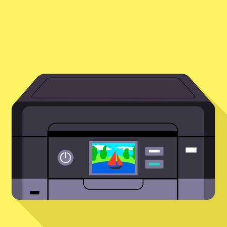Digital color printer icon. Flat illustration of digital color printer icon for web design