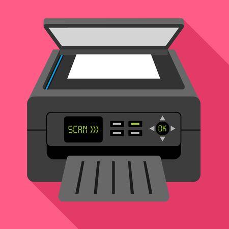 Scan printer icon. Flat illustration of scan printer icon for web design