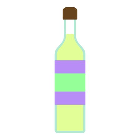 Tequila bottle icon. Flat illustration of tequila bottle icon for web design