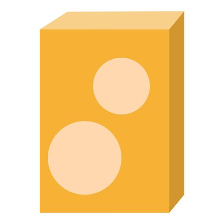 Carton package icon. Flat illustration of carton package icon for web design