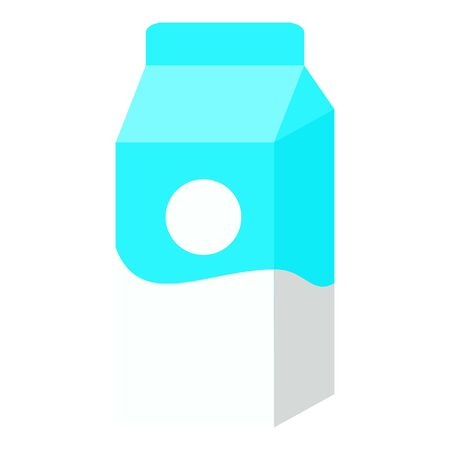Milk package icon. Flat illustration of milk package icon for web design