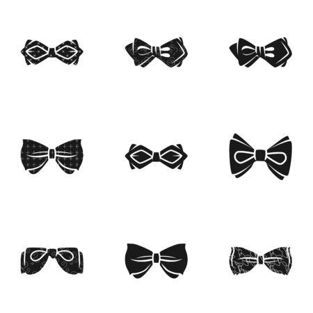 Ceremony bow tie icon set. Simple set of 9 ceremony bow tie icons for web design isolated on white background