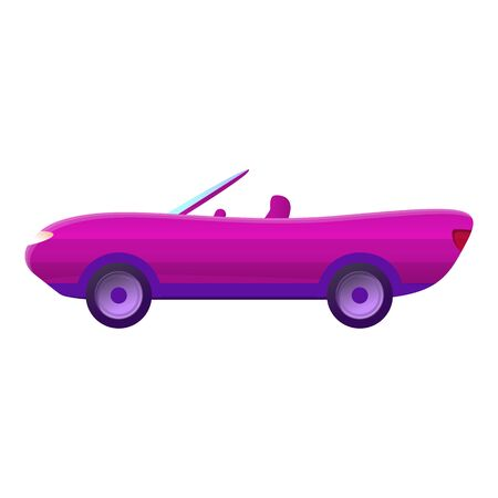 Pink cabriolet icon. Cartoon of pink cabriolet icon for web design isolated on white background