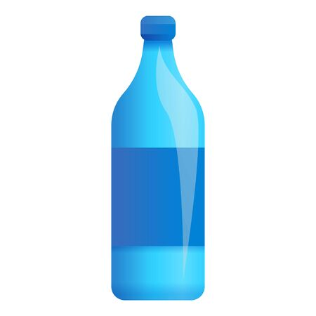 Plastic water bottle icon. Cartoon of plastic water bottle icon for web design isolated on white background Stock fotó