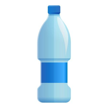 Mineral water bottle icon. Cartoon of mineral water bottle icon for web design isolated on white background