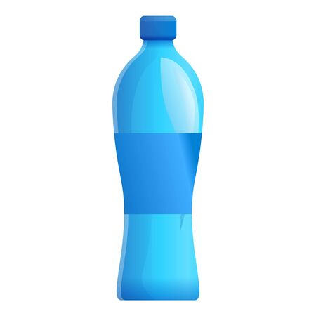 Aqua mineral bottle icon. Cartoon of aqua mineral bottle icon for web design isolated on white background